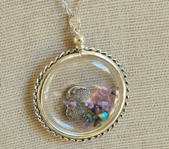 Fingerprint Jewelry - Clear Acrylic Locket - Memory Keeper Necklace