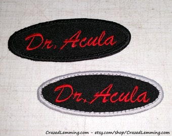 Dracula Name Embroidered Patch - Iron On