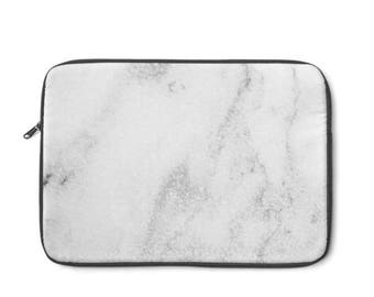 White Marble  Laptop Sleeve, MacBook Case, Laptop Case, Carry Case, Laptop Bag