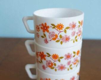 Arcopal flowers coffee mug