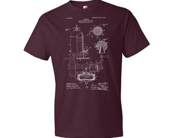 Bezzera Espresso Machine T-Shirt, Espresso T-shirt, Coffee T-shirt, Espresso Maker, Espresso Patent, Coffee Gift, Espresso Gift, Barista