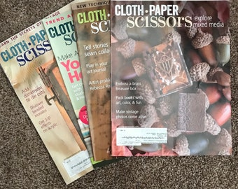 Four issues of Cloth Paper Scissors