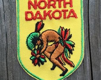 North Dakota Vintage Souvenir Travel Patch from Voyager