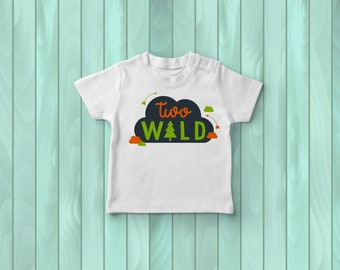 Into The Wild 2nd Birthday Tee, Boy's Tee Shirt, Birthday Outfit