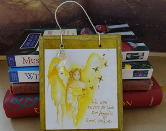 Angel Blessings ~ Hanging Gemstone Plaque
