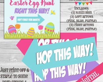 Easter Egg Hunt Digital, Egg Hunt printable, Egg hunt digital