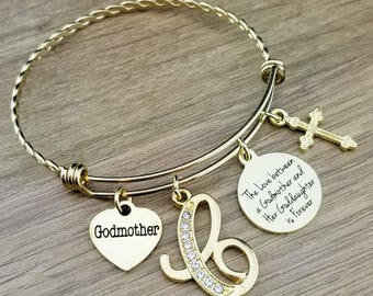 Gold Godmother Bracelet Godmother Gift Fairy Godmother Fairy Godmother Gift Gift for Godmother Gifts for Godparents Gifts for Godmother