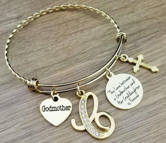 Gold Godmother Bracelet Godmother Gift Fairy Godmother Fairy Godmother Gift Gift for Godmother Gifts for Godparents Gifts for Godmother