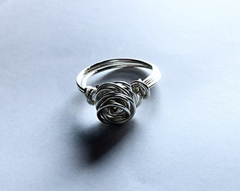 Rose Ring - Wire Rose Ring - Rose Jewelry - Wire Wrapped Ring - Rose Ring - Handmade Ring - Wire Wrapped Rose Ring