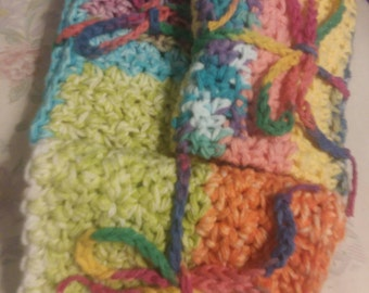 Colorful Washcloth, dishcloth, bath cloth, face cloth, cotton washcloth, Bath time, green, reusable