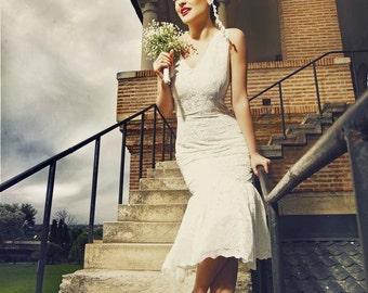 20s wedding dress, Charleston wedding, Flapper wedding dress, Great Garbo dress, 1920 dress
