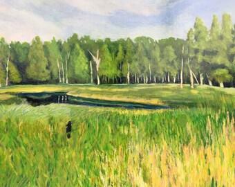 Weborg Marsh 2 Original Acrylic Painting