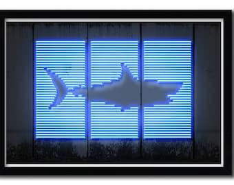 Affiche Shark by Octavian Mielu