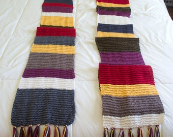 Doctor Who Scarf 4th Doctor 14th Season hand knit