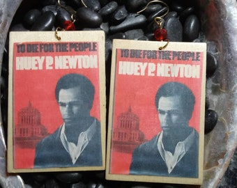 Huey P Newton (To Die For The People) Earrings