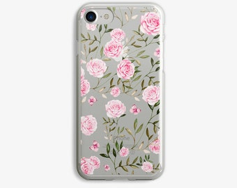 Pink Flowers iPhone 7 Plus Case iPhone 6 Case Flower iPhone 7 Case iPhone 6 Plus Case 5s 5