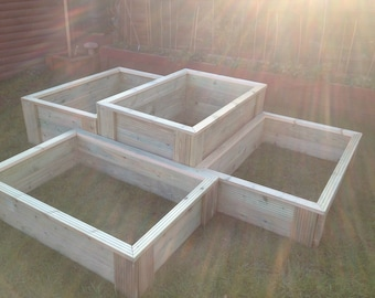 Tanalised Deluxe decking raised bed garden planter  bnib vegetable herb garden many SIZE OPTIONS AVAILABLE