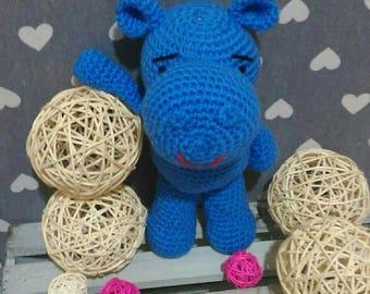 Crochet wool fate hippo