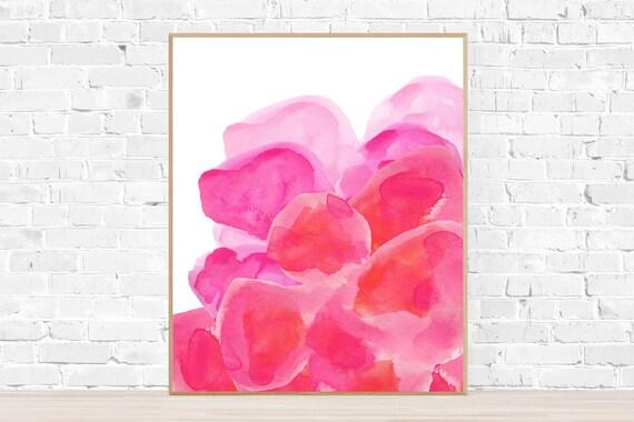 Hot Pink Flower Poster, 16x20