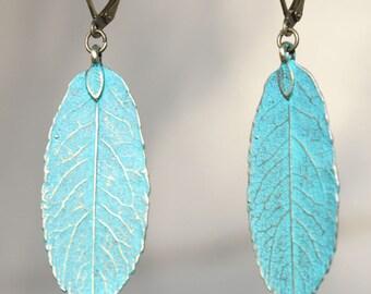 Boho earrings Turquoise Earrings Boho Jewelry Dangle Drop Earrings Leaf Earrings Bohemian Earrings Bohemian Jewelry Christmas Gift For her