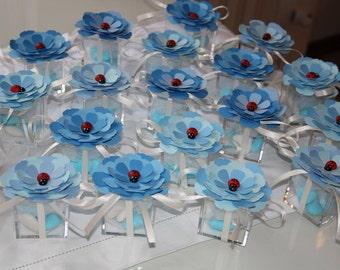 Coccinella margherita- Bomboniere Battesimo e Nascita confezione da 10