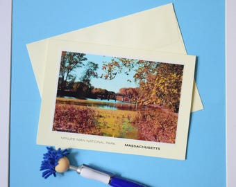 Minute Man National Park, Blank Card, Massachusetts, Thank you Card, Thank you Note, Stationery Card, New England, National Park, Park, USA