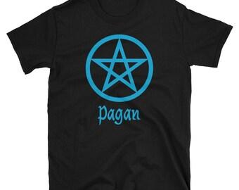 Blue Pentagram Pagan Symbol Pentacle t-shirt Wicca Heathen