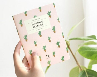 Monthly Planner A6 v.2- notebook, planner, scheduler, diary / 10ic65