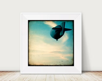 Airborne - Fine Art Print Aviation airship Zeppelin Sky vintage TTV photography Summer
