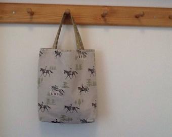 Cotton Horse Tote Bag
