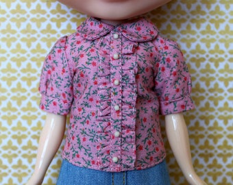 Blythe Shirt, Floral Blouse with collar