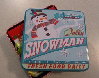 Jolly Snowman Christmas Tin Mini Album CLEARANCE PRICED!!