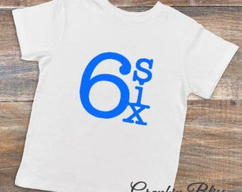 Six Year Old Birthday 6th T Shirt Boy Or Girl Unisex Tee Happy