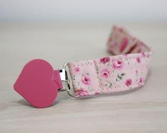 Pacifier clip girl, Pacifier clip, Pacifier holder, Soothie pacifier clip, binky clip, dummy clip, paci clip, baby girl pacifier clip