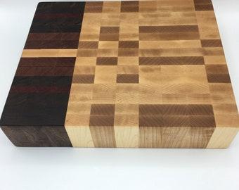 Farmhouse Butcher Block -- Maple, Walnut, Mahogany, Bloodwood