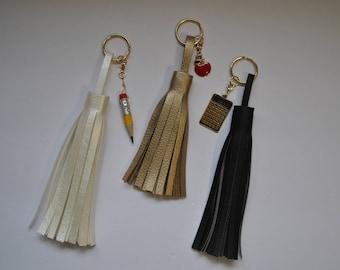 Teacher Tassel // Keychain Tassel // Purse Tassel // Bag Tassel // Zipper Tassel // Necklace Tassel