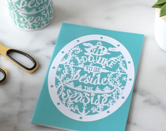 Beside the seaside a5 lined notebook