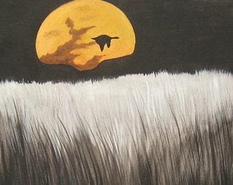 Signs of Fall Canvas Board Acrylic Painting