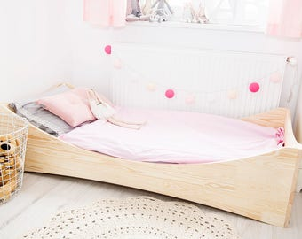 Single bed for kids - CUBE 4 - Pine wood