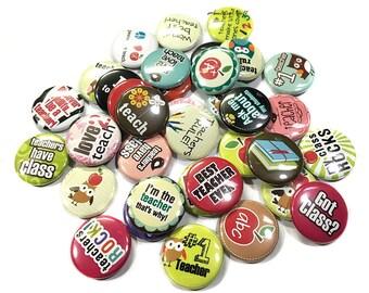 """Teachers, Classroom, 1"""", Button, Teacher Pin, Teaching Pinback, Classroom Decor, Teaching Flatback, Teachers Rule, Classroom Theme, Teacher"""