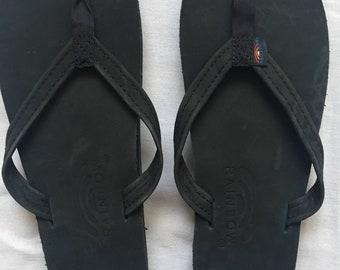 Rainbow ladies leather sandals size 7.5-8.5