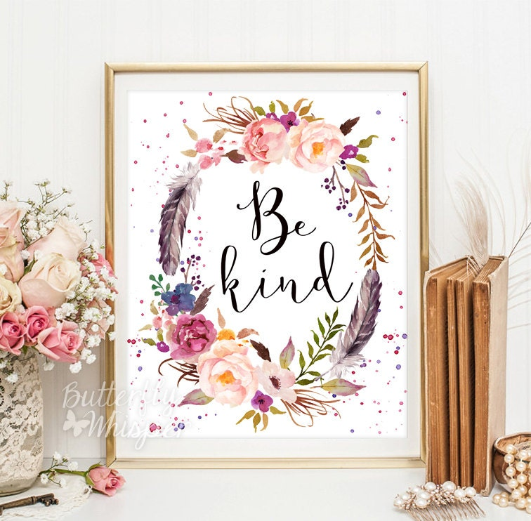 Be kind printable wall art Disney quote Inspirational canvas