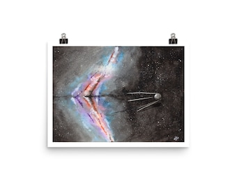Sputnik Stsrscape - Watercolor Print