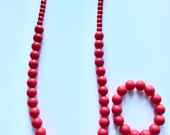 Sale- RED Pearl Style Set
