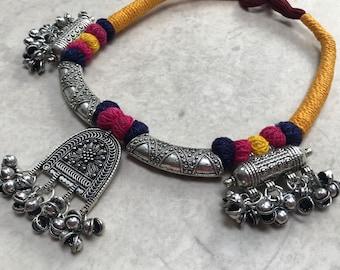Charm Pendant Thread Necklace