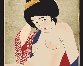 Sexy nude geisha girls 8