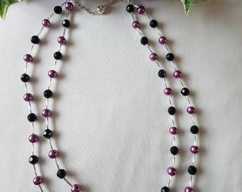 Stylish Double thread necklace with magnetic clasp