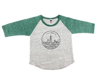 Illinois State Design - TriBlend Raglan Baseball Infant Shirt