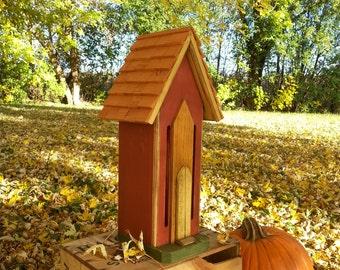 Handcrafted Butterfly House Cedar Rustic Primitive Folk Art Country Decor