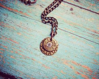 Cz bullet charm pendant bullet necklace